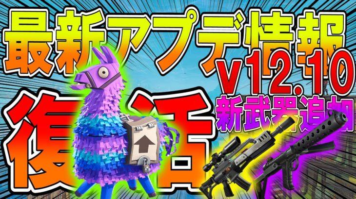 【 フォートナイト】最新アプデ情報v12.10!ラマ復活!!!ヘビショ&スコープ付きアサルト新武器追加されまくり!【ななか】