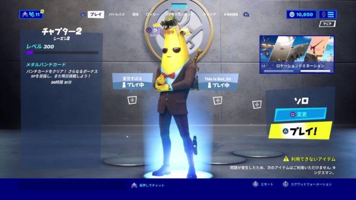 [フォートナイト]  ソロ!バナナスタイル!300レベル!