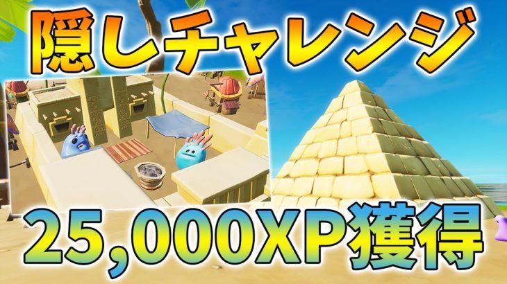 【フォートナイト】隠しチャレンジクリアで25,000XPを獲得できるよ!コーラルバディにストーンクラフトを教えた【経験値】