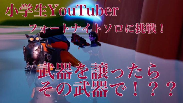 小学生YouTuber フォートナイト ソロに実況に挑戦!ビクロイなるか??
