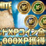 【ゴールドXPコイン全場所】パンチカード同時攻略で206,000XP獲得